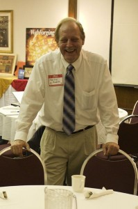 "Picture of Keith Klein hosting Wisconsin Business Owners Lunch & Learn, quoted as saying, "" I recommend Audible Books"""